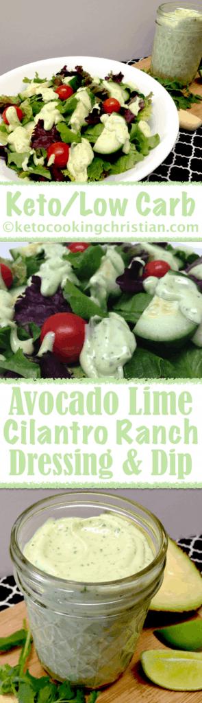 Avocado Lime Cilantro Ranch Dressing & Dip - Keto and Low Carb