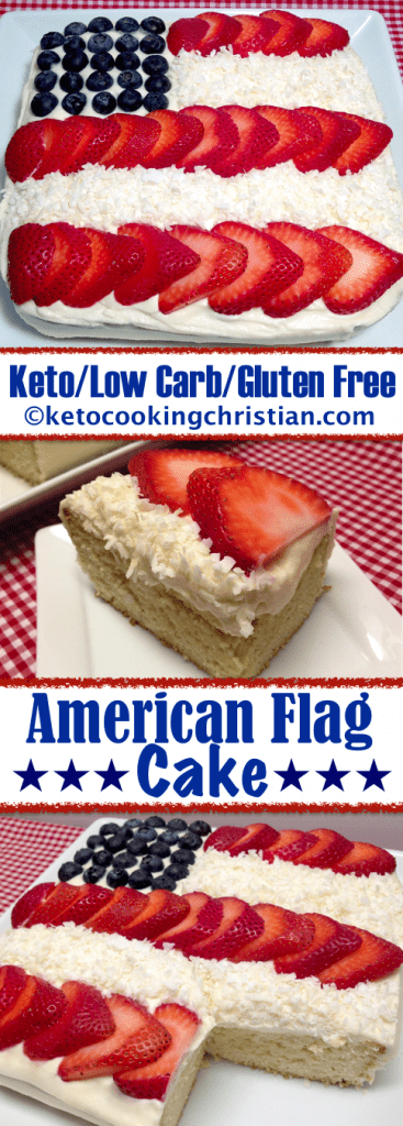 American Flag Cake - Keto, Low Carb & Gluten Free