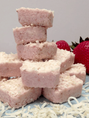 Strawberry Coconut Fat Bombs - Keto and Low Carb