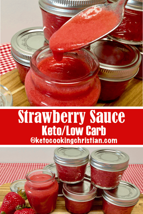 Homemade Strawberry Sauce - Keto and Low Carb