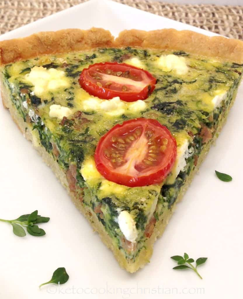 Sweet Italian Sausage and Spinach Quiche - Keto, Low Carb & Gluten Free