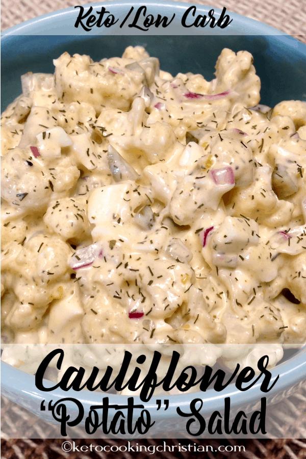 Cauliflower Potato Salad - Keto and Low Carb