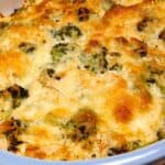closeup of chicken broccoli casserole