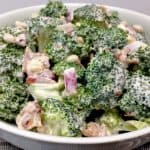 Easy Broccoli Salad with Bacon - Keto and Low Carb