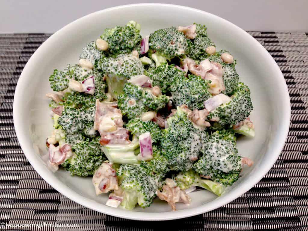 easy broccoli salad with bacon keto low carb