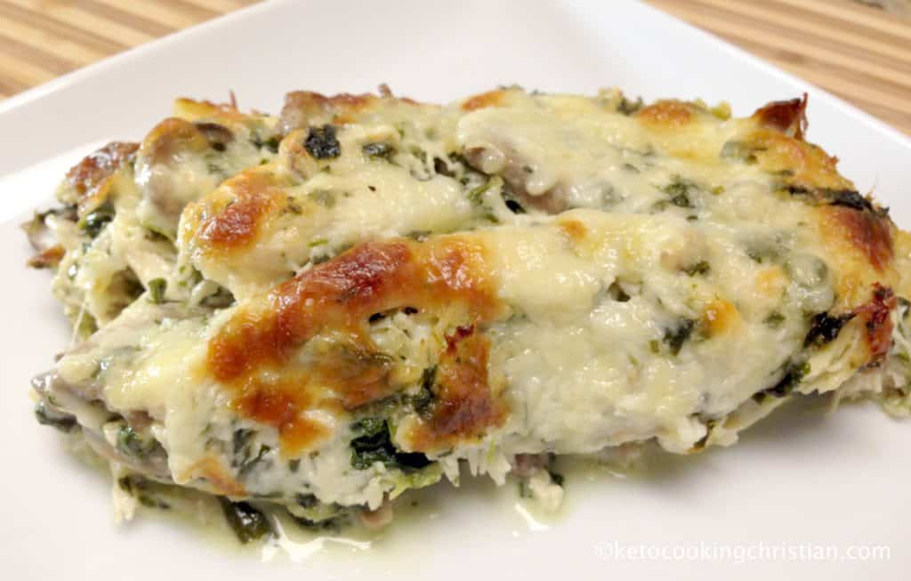 Chicken Florentine Casserole - Keto and Low Carb