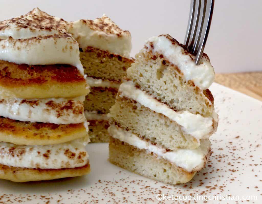 Tiramisu Pancakes - Keto, Low Carb, Sugar & Gluten Free