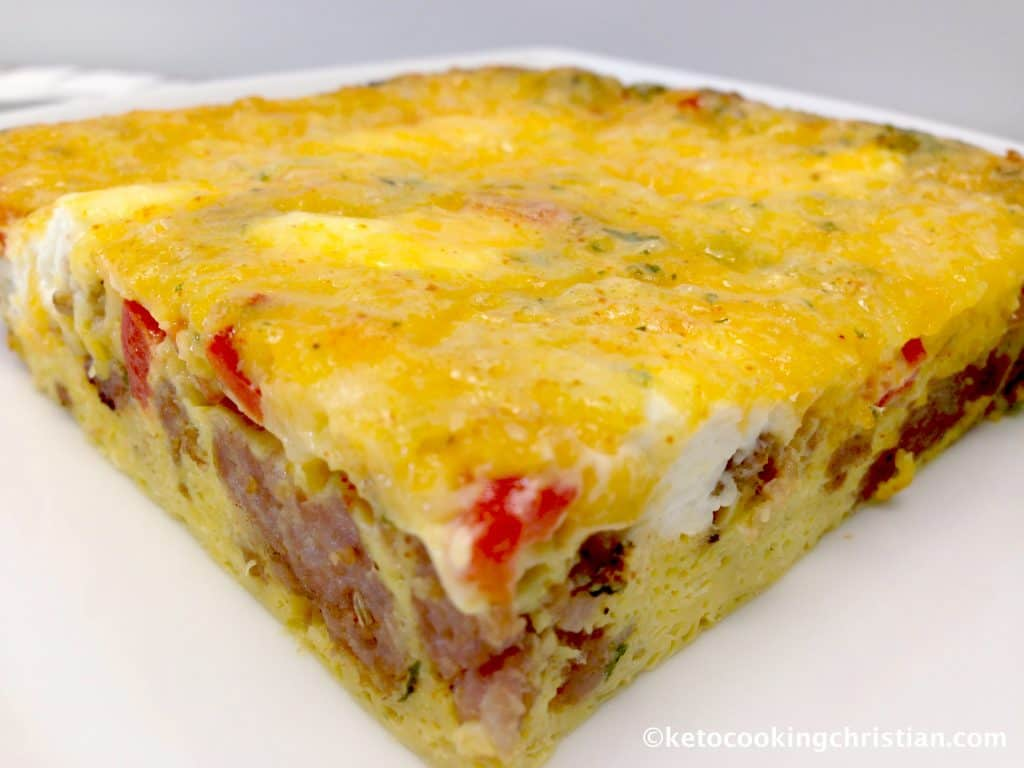 Easy Sausage and Pepper Breakfast Casserole - Keto and Low Carb
