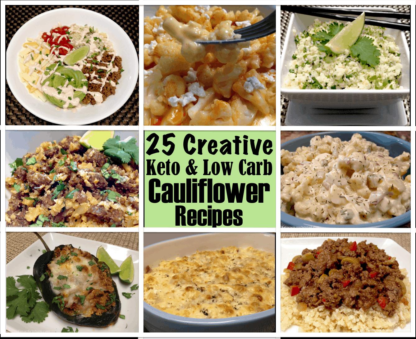 25 Creative Keto and Low Carb Cauliflower Recipes