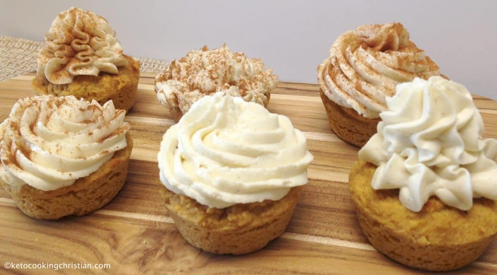 Pumpkin Cupcakes with Cream Cheese Frosting - Keto, Low Carb & Gluten Free