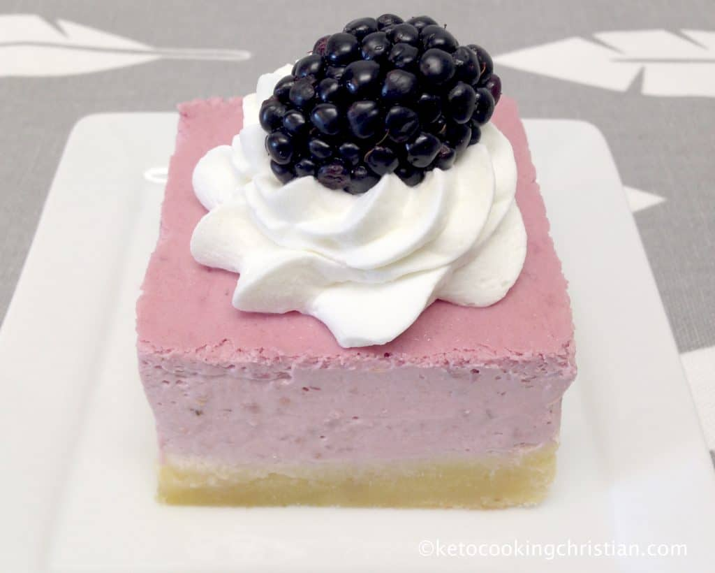 Blackberry Cheesecake Bars - Keto, Low Carb & Gluten Free