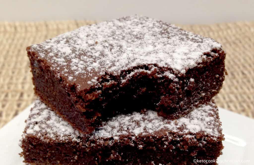 Salted Caramel Fudge Brownie - Keto, Low Carb & Gluten Free
