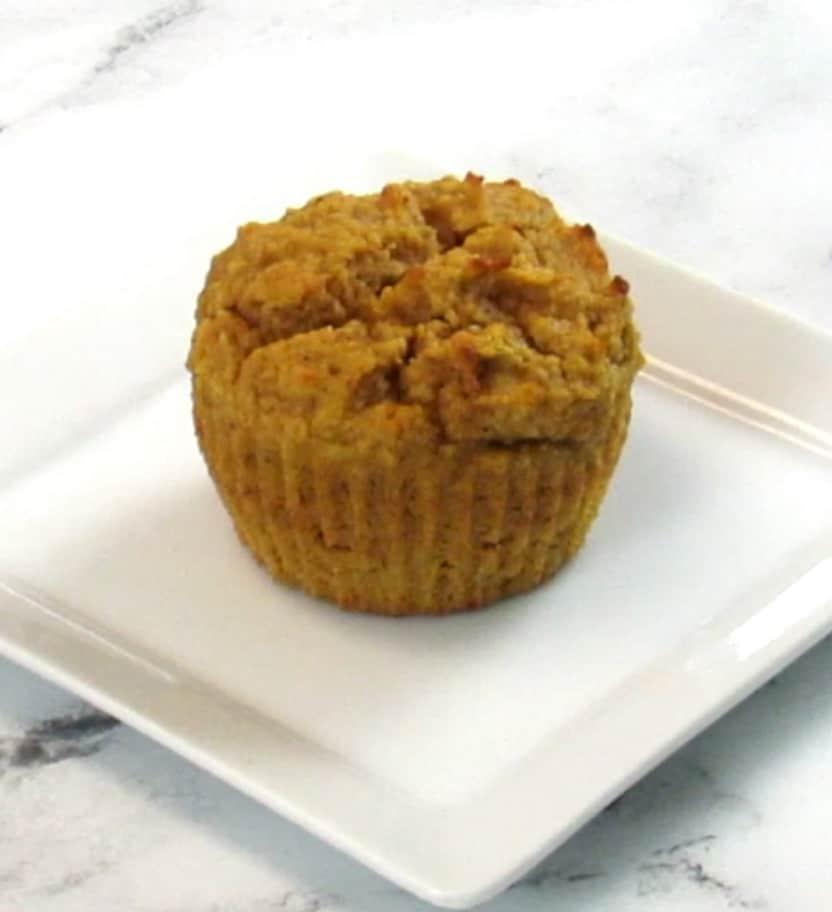 pumpkin cupcake on plate