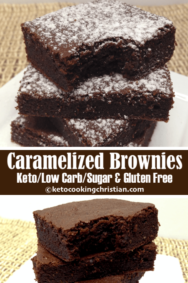 Salted Caramelized Chocolate Brownies - Keto, Low Carb, Gluten & Sugar Free