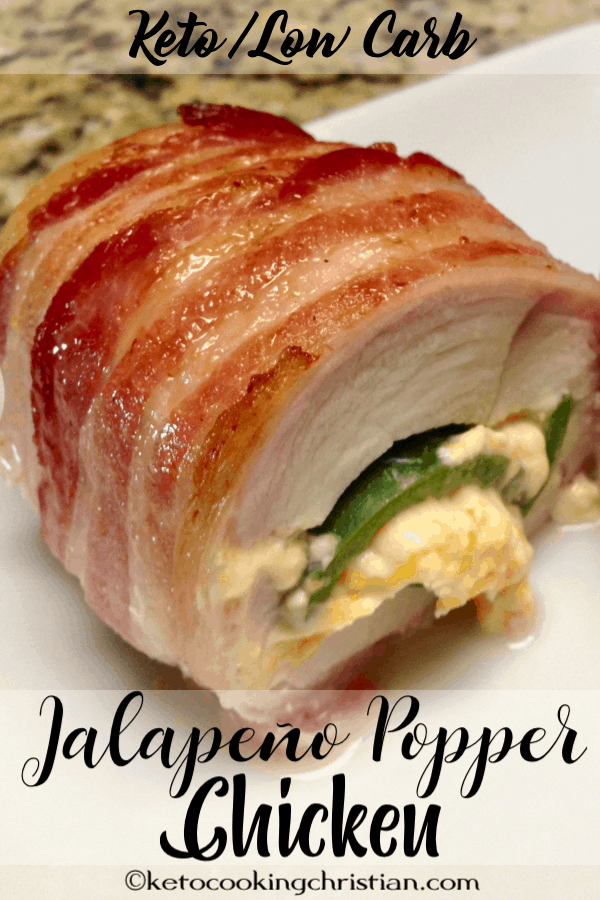 Bacon Wrapped Jalapeño Popper Chicken - Keto and Low Carb