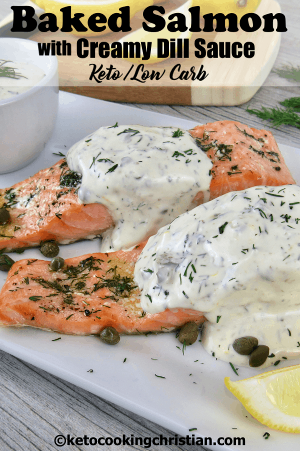 PIN Baked Salmon with Creamy Dill Sauce
