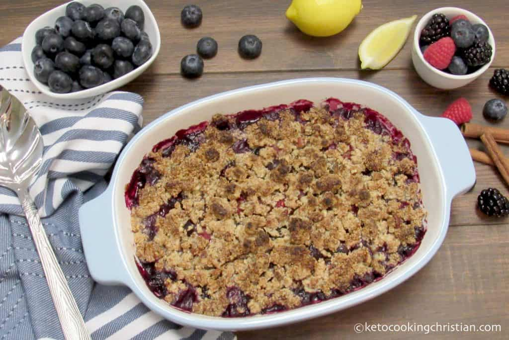 Mixed Berry Crumble - Keto, Low Carb & Gluten Free