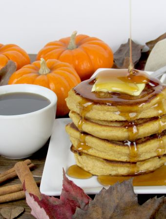 Fluffy Pumpkin Pancakes - Keto, Low Carb & Gluten Free