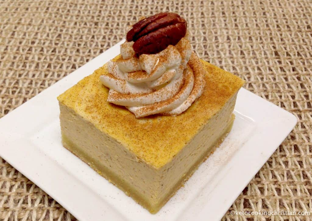 Pumpkin Swirl Cheesecake Bars - Keto, Low Carb & Gluten Free