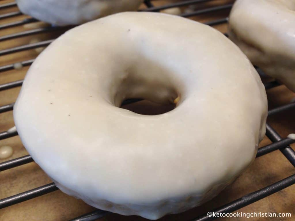Pumpkin Donuts with Maple Cream Cheese Glaze - Keto, Low Carb & Gluten Free
