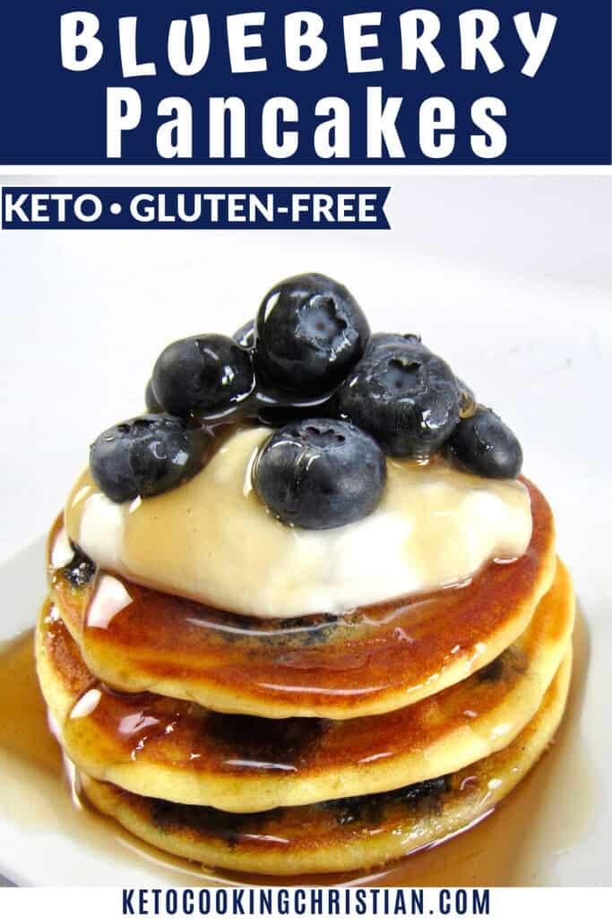 PIN Keto Blueberry Pancakes - Gluten Free