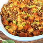 sausage stuffing in casserole dish