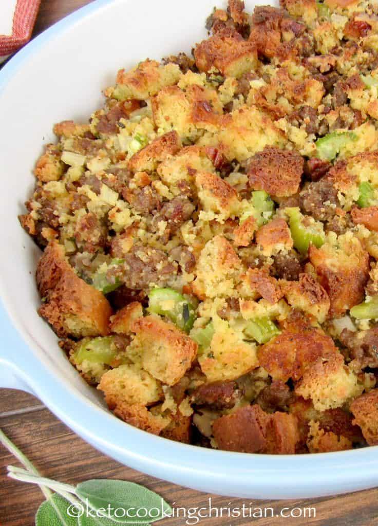 Herb Sausage Stuffing - Keto, Low Carb & Gluten Free