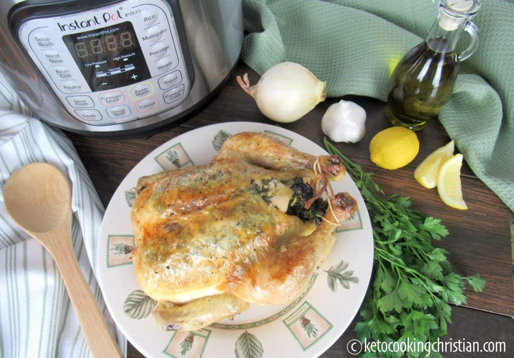Easy Instant Pot Roasted Chicken - Keto and Low Carb