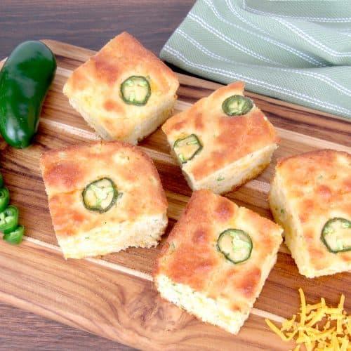 "Cheddar Jalapeño ""Cornbread"" - Keto, Low Carb & Gluten Free"