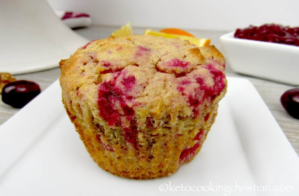Cranberry Sauce and Walnut Muffins - Keto, Low Carb & Gluten Free