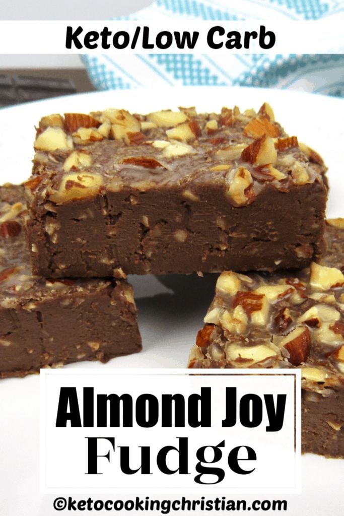 PIN Keto Almond Joy Fudge