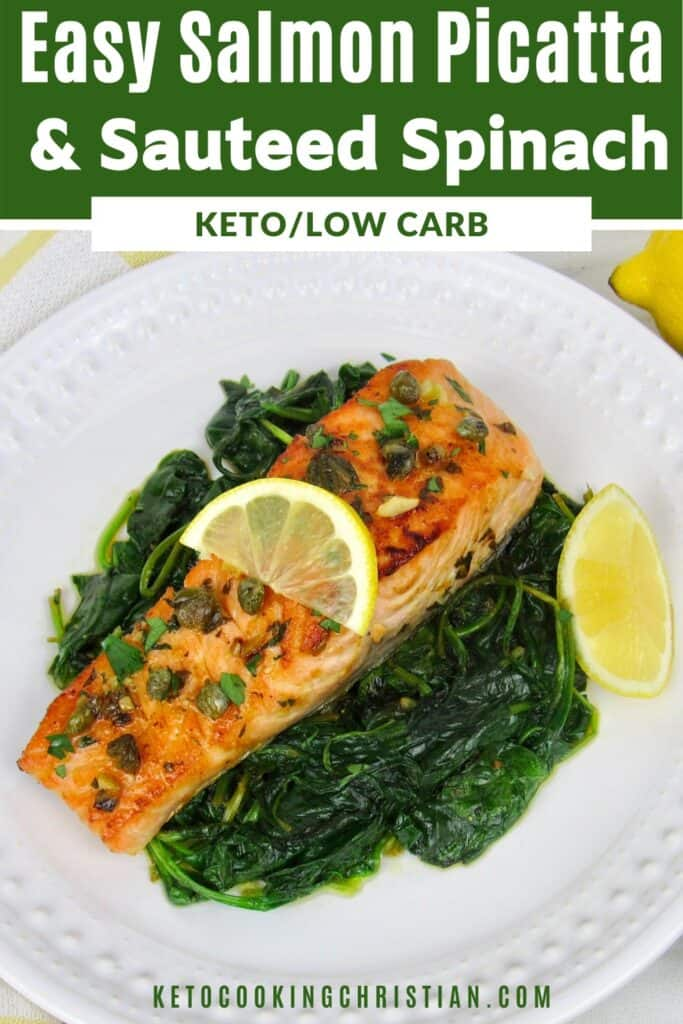 PIN easy salmon piccata with spinach