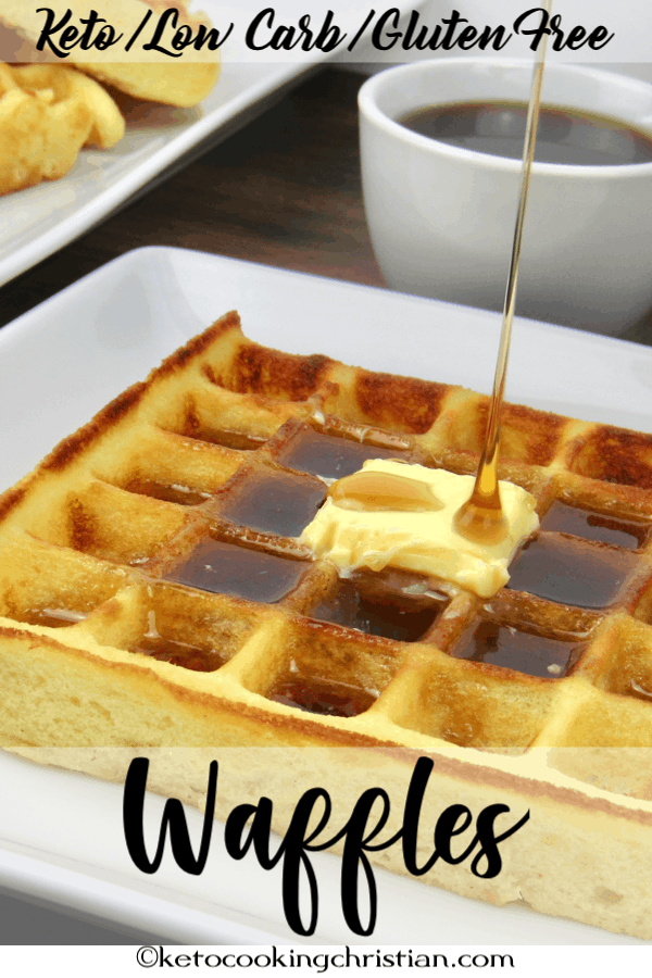 Homemade Waffles Keto, Low Carb & Gluten Free
