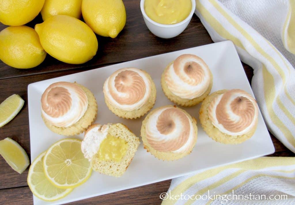Lemon Meringue Cupcakes - Keto, Low Carb & Gluten Free
