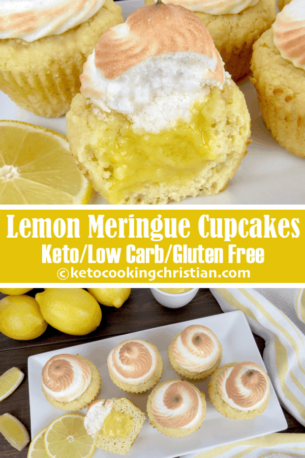 Lemon Meringue Cupcakes - Keto, Low Carb & Gluten Free
