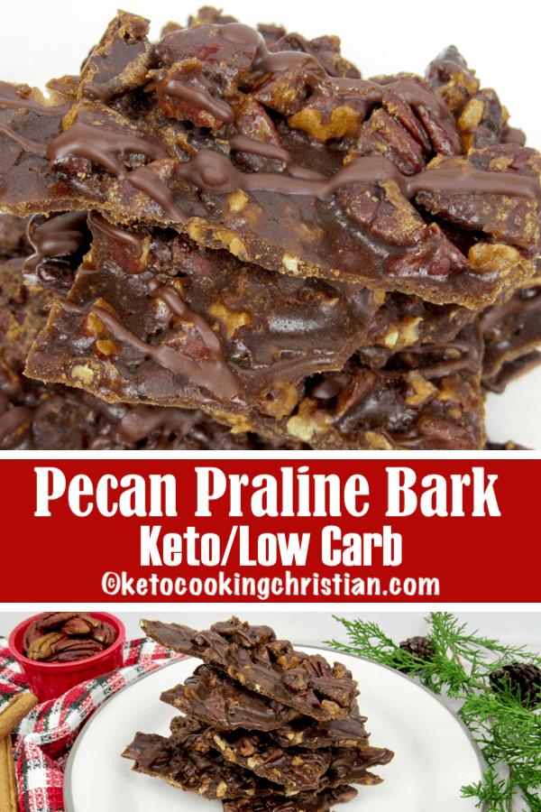 Pecan Praline Bark - Keto and Low Carb