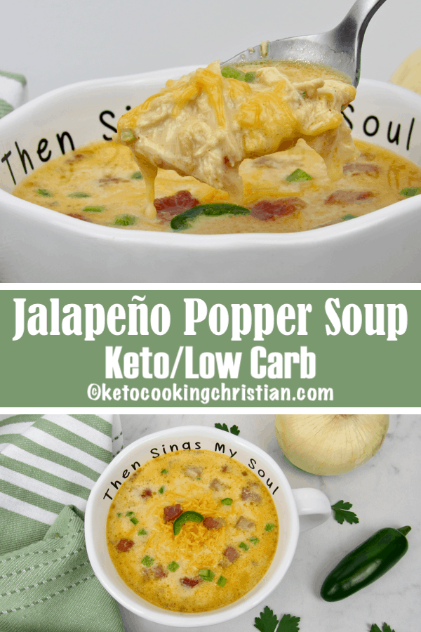 Jalapeño Popper Chicken Soup - Keto and Low Carb