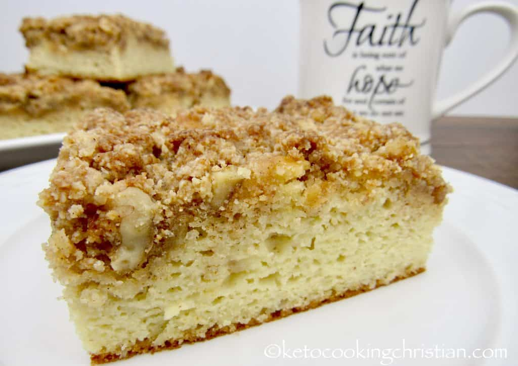 Coffee Crumb Cake - Keto, Low Carb & Gluten Free