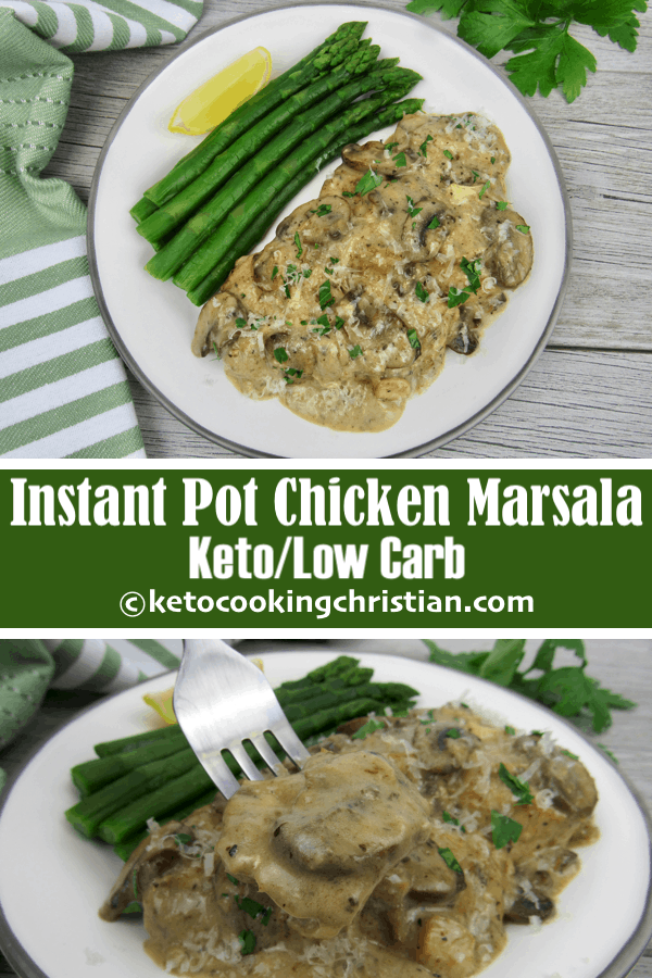 Instant Pot Chicken Marsala - Keto and Low Carb
