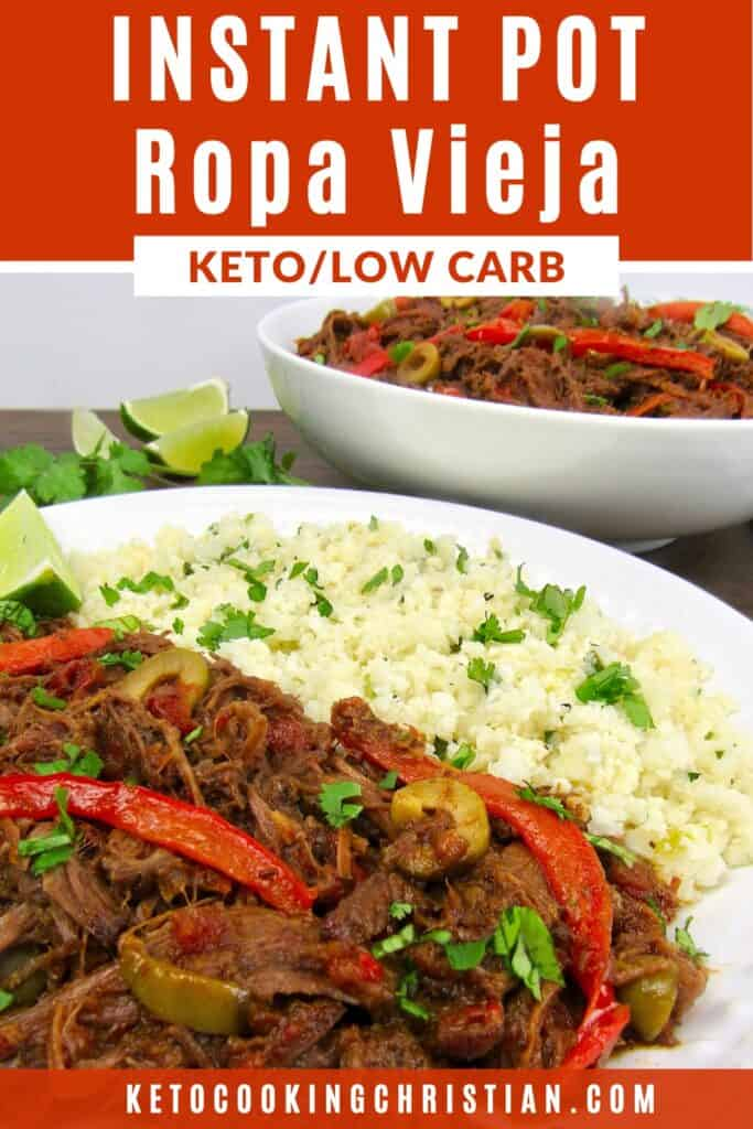 PIN Instant Pot Ropa Vieja - Keto and Low Carb