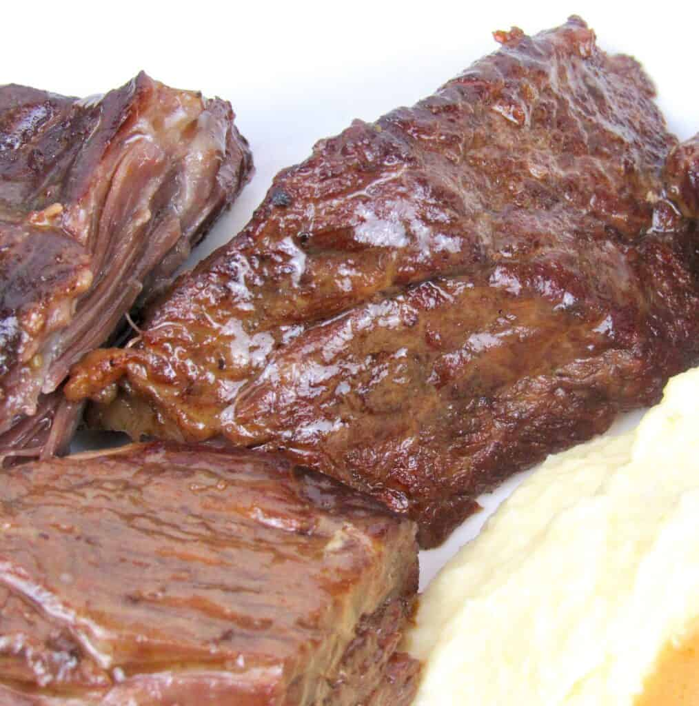 closeup of juicy pot roast