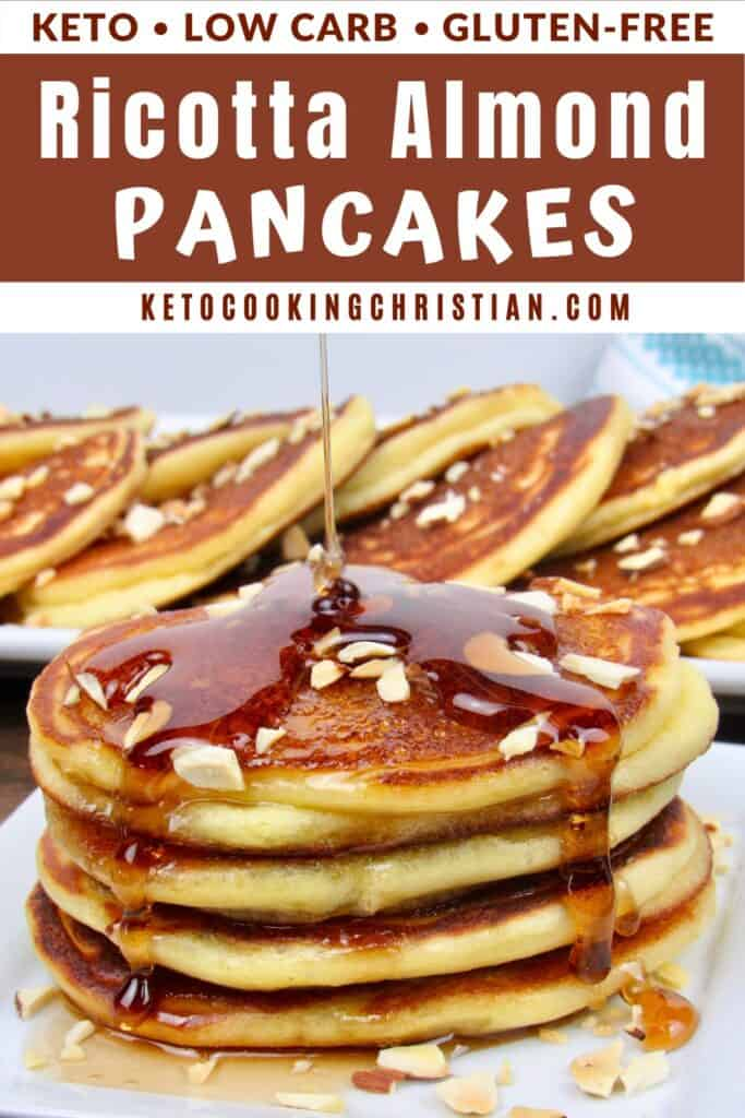 PIN ricotta almond Keto pancakes