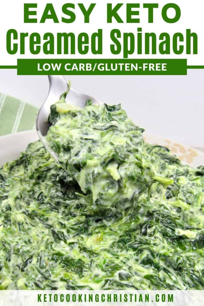 PIN creamed spinach