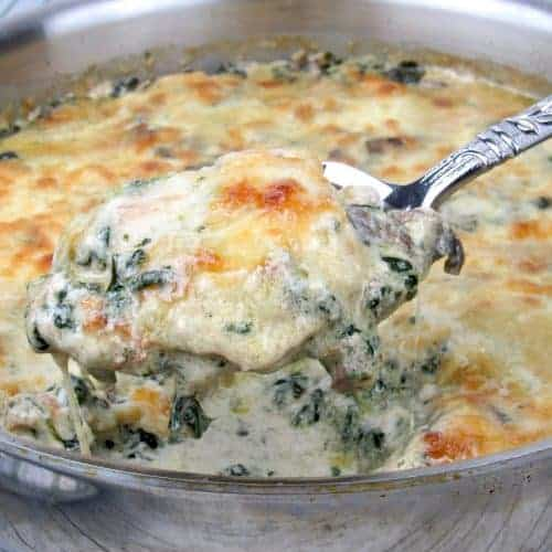 Chicken Florentine Skillet - Keto and Low Carb