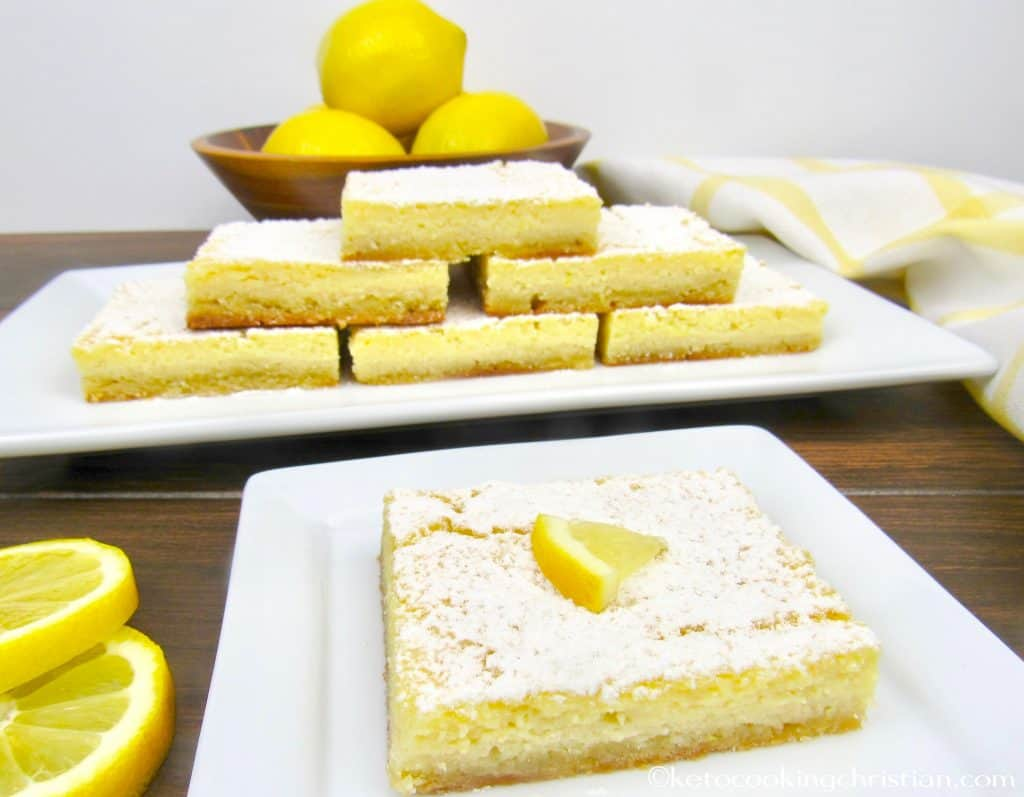 Lemon Bars - Keto, Low Carb & Gluten Free