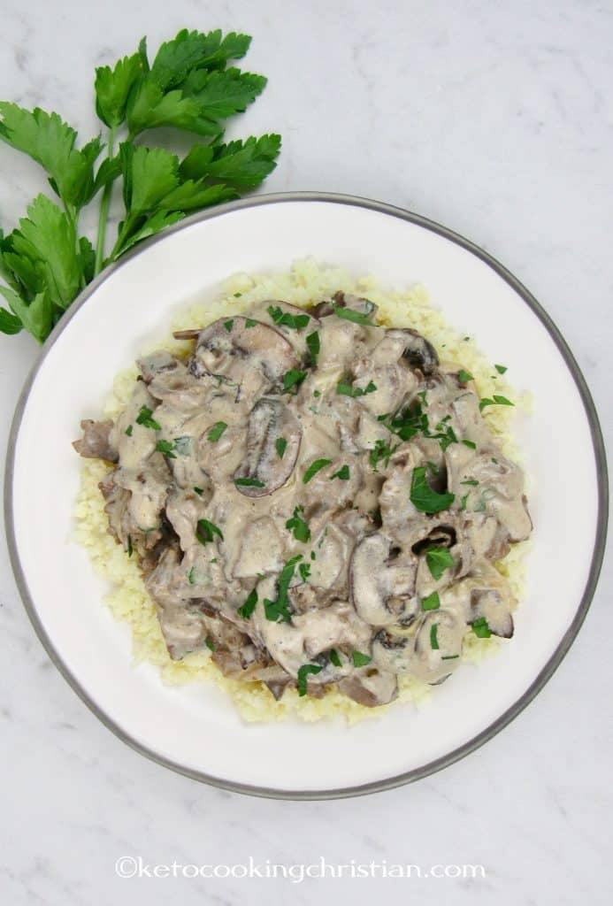 Quick & Easy Beef Stroganoff - Keto and Low Carb