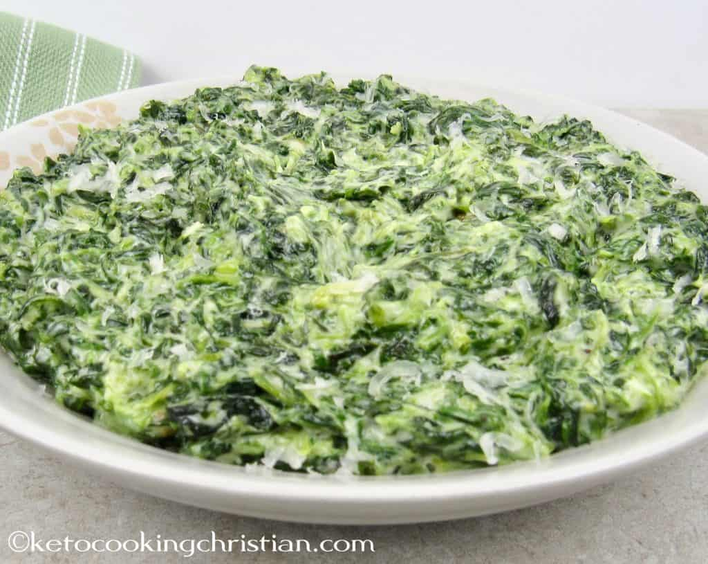 Easy Creamed Spinach - Keto and Low Carb