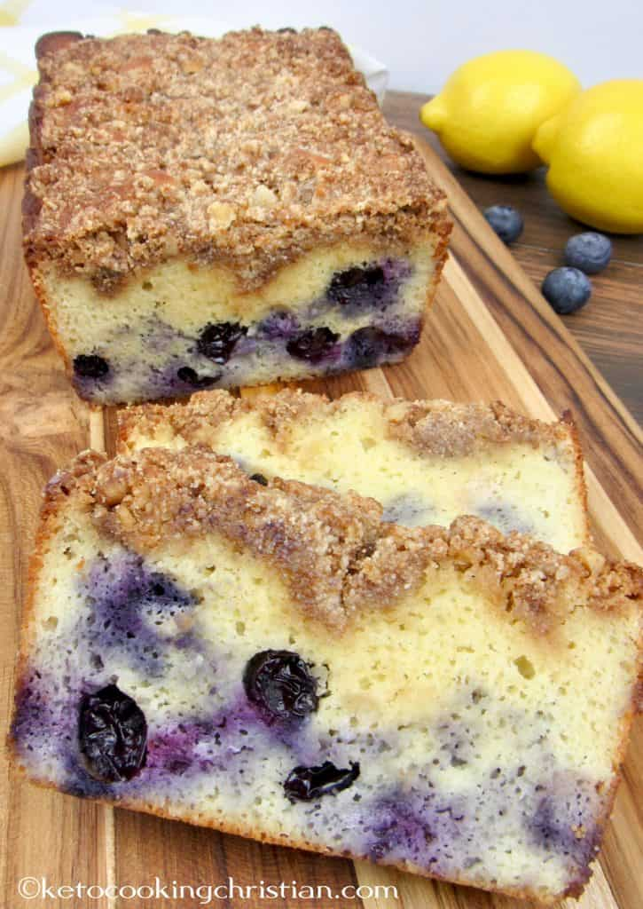 Blueberry Crumb Loaf - Keto, Low Carb & Gluten Free