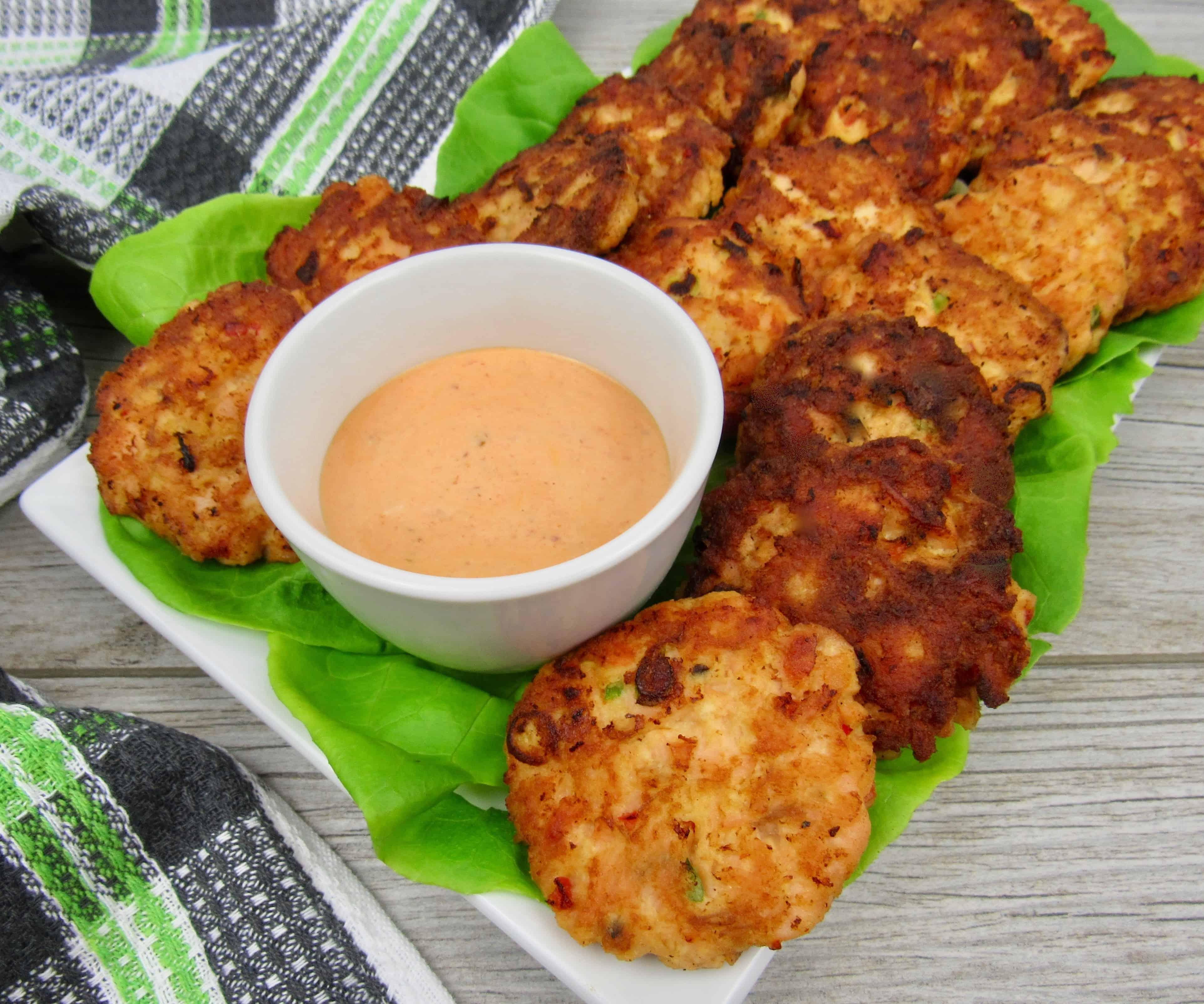 Bang Bang Salmon Cakes- Keto, Low Carb & Gluten Free