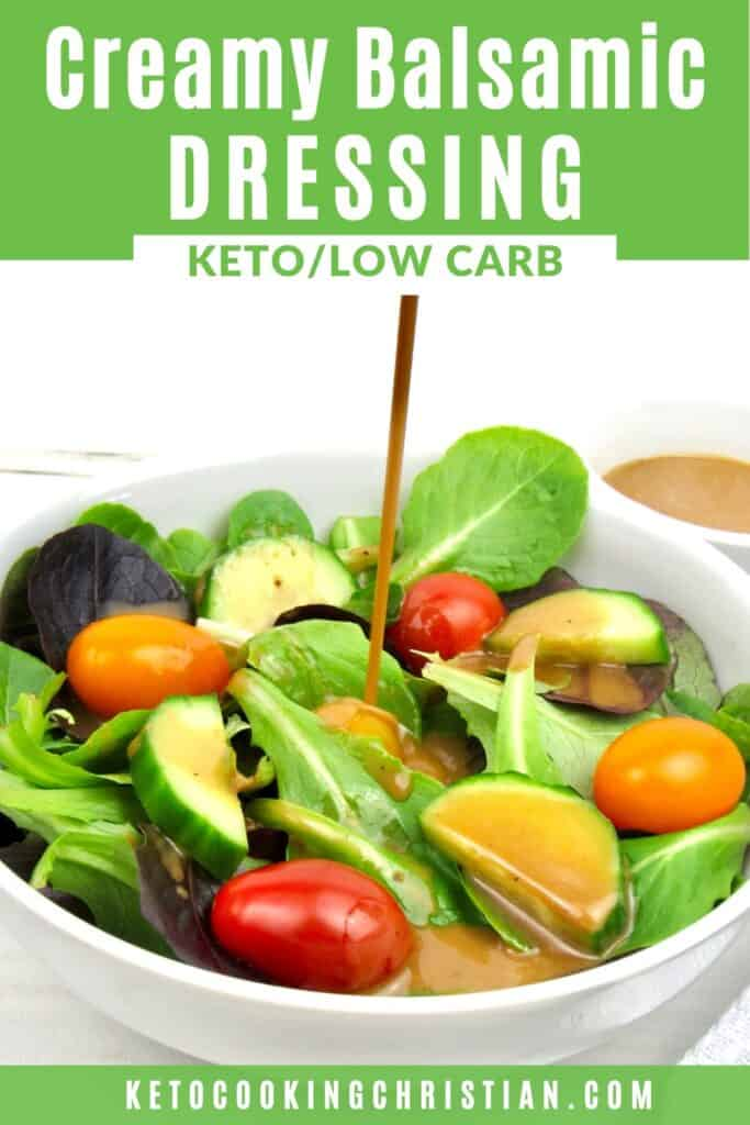 PIN Creamy Balsamic Dressing - Keto and Low Carb
